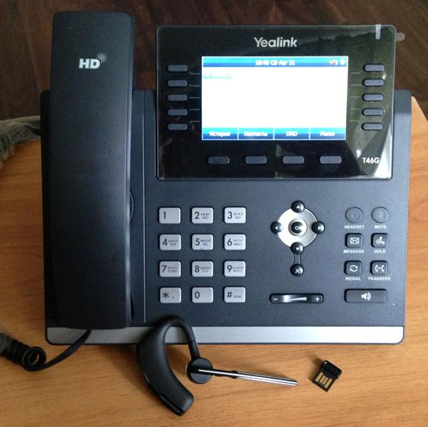 Yealink SIP-T46G + Yealink BT40 + Plantronics Voyager Legend UC